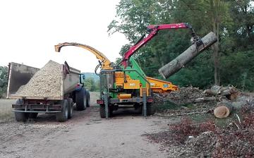 Dechiquetage de bois